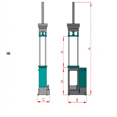 Vertical Push Broaching Press